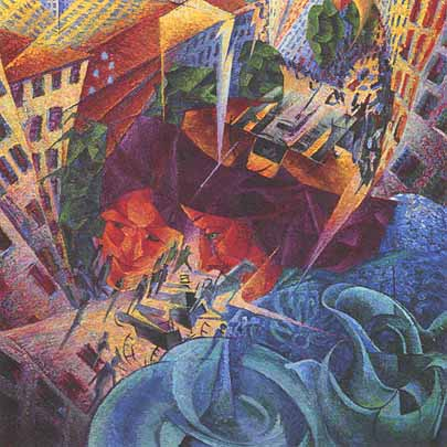 U.Boccioni -   Visioni simultanee - 1911
