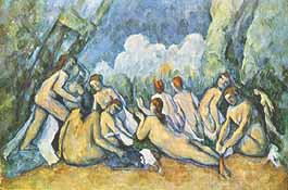 "Paul Cézanne, ""Les grandes baigneuses (Le grandi bagnanti)"", ca 1904, The Trustees of the National Gallery, Londra (London)"