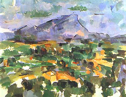 Paul Cézanne - La montagna Sainte-Victoire