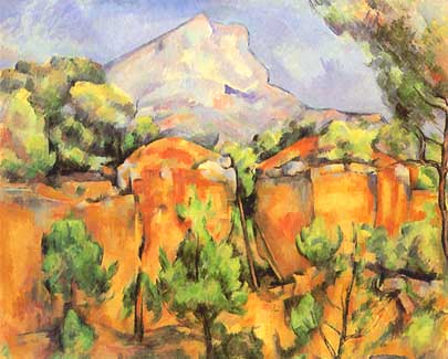 Mont Sainte-victoire Seen From The Bibemus Quarry Mont Sainte-victoire Seen From