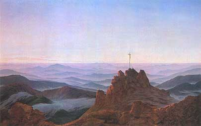 Caspar david friedrich, &;morgen im riesengebirge (mattina nel