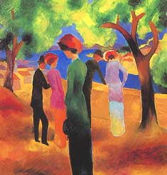 "August Macke, ""Dame in grüner Jacke (Donna in giacca verde)"", 1913, Museum Ludwig, Colonia (Köln)"