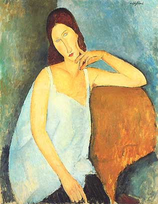 "Amedeo Modigliani, ""Portrait de Jeanne Hébuterne (Ritratto di Jeanne Hébuterne)"", 1919, Metropolitan Museum of Art, New York"