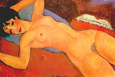 A. Modigliani -  Nudo rosso - 1917