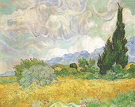 "Vincent van Gogh, ""Wheat Field with Cypresses (Campo di grano con cipressi)"", 1889, The Trustees of the National Gallery, Londra (London)"